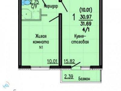 ЖК Суходольский 3, 62 м2, 9/15 эт.