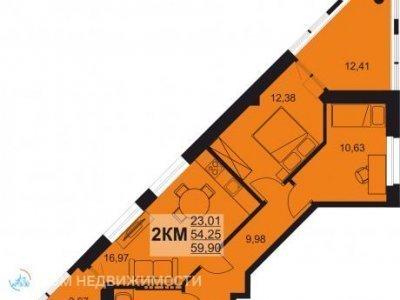 2-к. кв. ЖК Сириус, 60 м2, 2/6 эт.