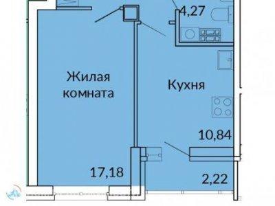 1-к. кв. ЖК Сказы Бажова, 41 м2, 2/17 эт.