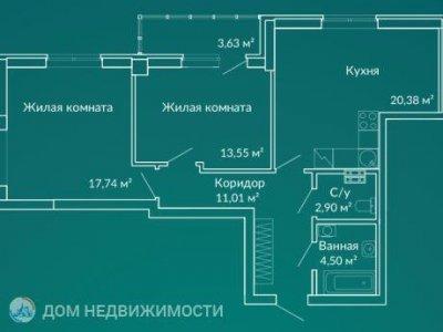 2-к.кв.  ЖК Новая Ботаника, 60 м2, 8/24 эт.