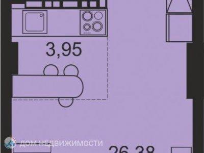 Студия ЖК Сириус, 35 м2, 3/26 эт.