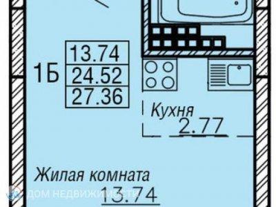 Студия ЖК Рио, 29 м2, 14/23 эт.